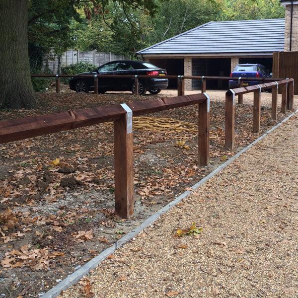 Knee rail fencing
