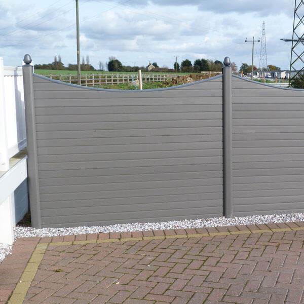 Concave graphite composite fencing and posts