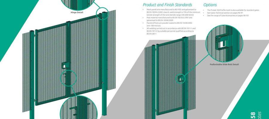 Protek mesh 358 gate