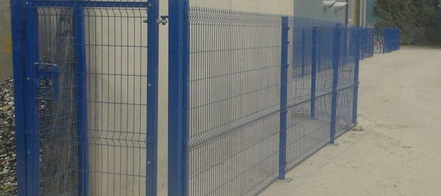 Profile mesh security gate Blue