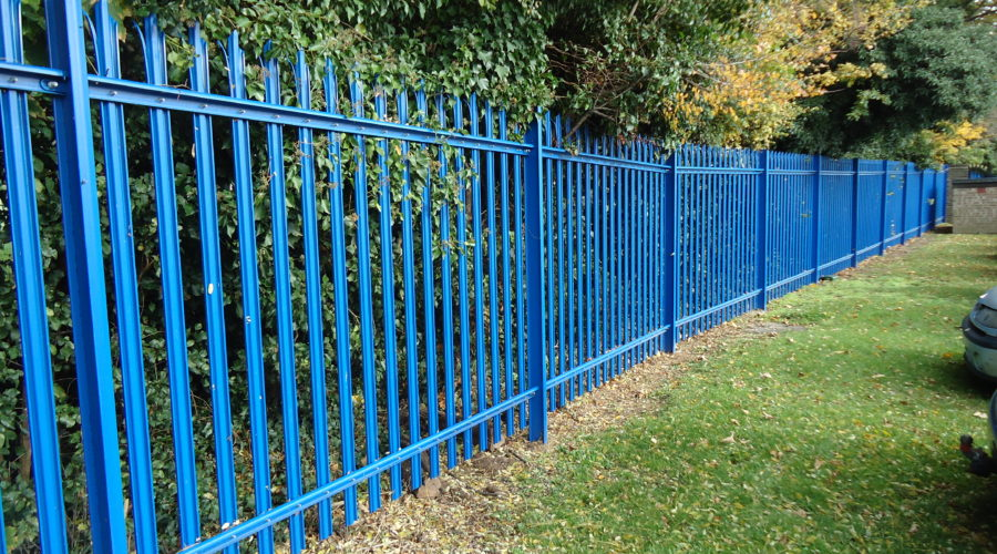 Triple pointed palisade Blue
