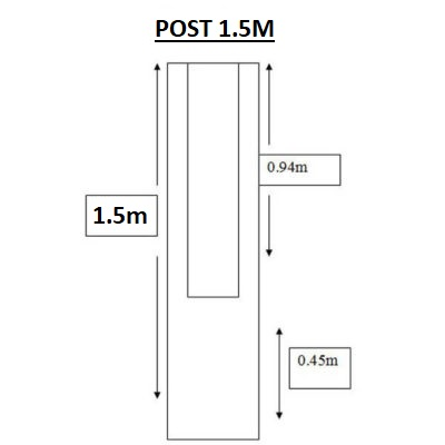 1.5m post diagram