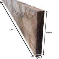 2.4m sawn kickboard brown