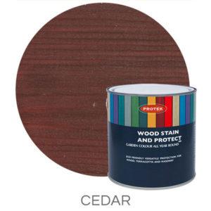 Cedar wood stain & protector