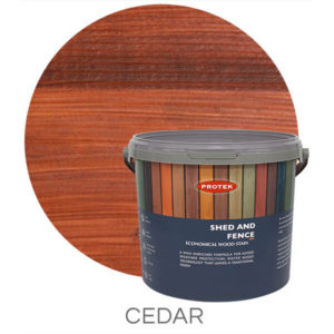 Cedar shed & fence treatment