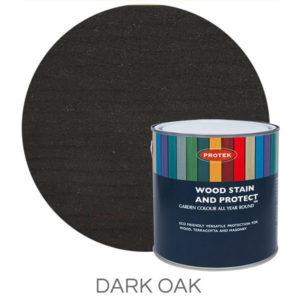 Dark oak wood stain & protector
