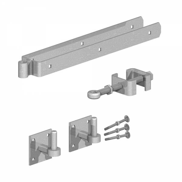 Adjustable field gate hinge