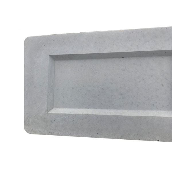 concrete recessed gravel board