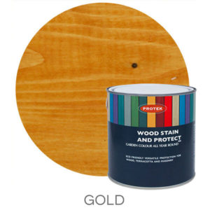 Gold wood stain & protector
