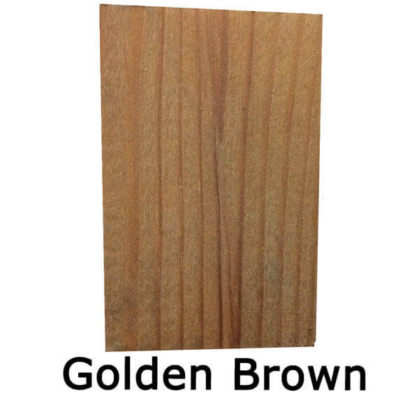 Golden-brown shed and fence