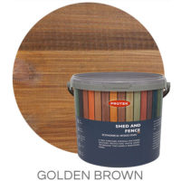 Golden brown shed & fence treatment