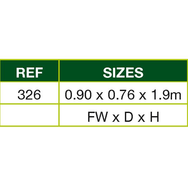 Half wallshed measurement table