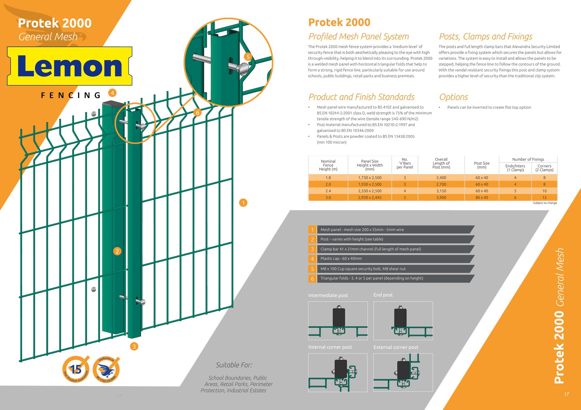 Protek 2000 Mesh fencing