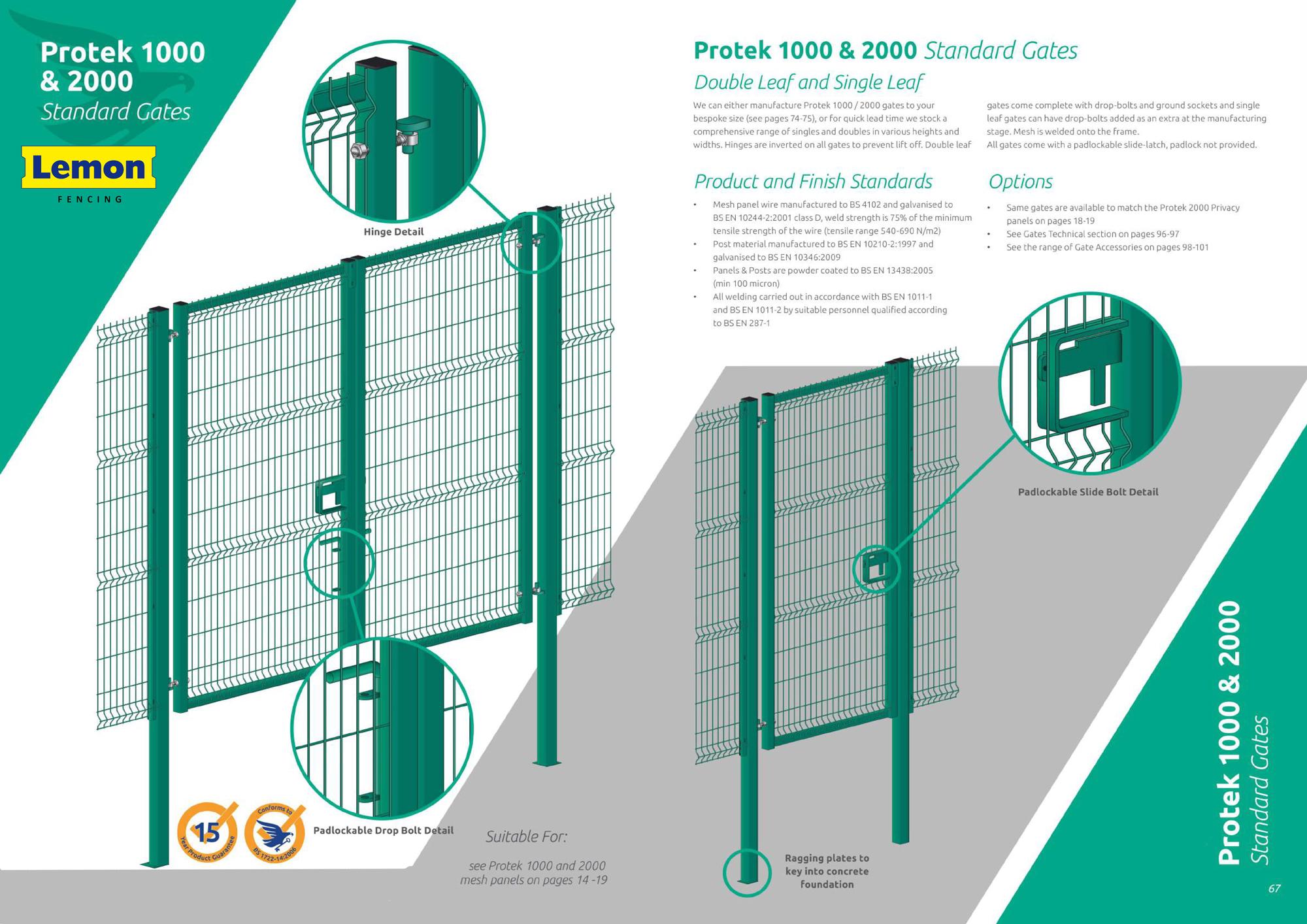 protek 1000 2000 gates
