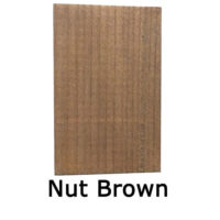 Nut-brown shed and fence