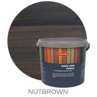 Nut brown shed & fence treatment