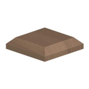 Large post cap brown