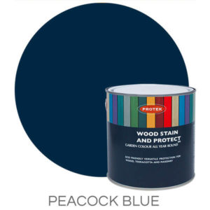 Peacock blue wood stain & protector