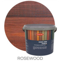 Rosewood shed & fence treatment