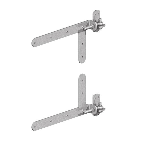 Braced adjustable hinges
