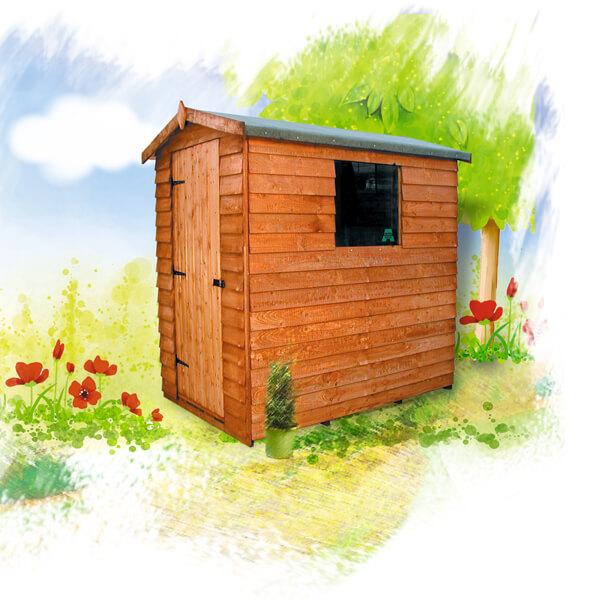 Cottage overlap shed lemon fencing fencing in essex for Garden shed essex