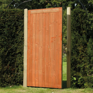 Framed tongue and groove gate