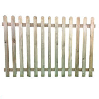Round top picket panel 1.2m