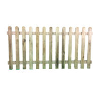 Round top picket panel 0.9m