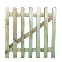 Round top picket gate 0.9 x 0.9