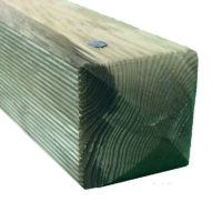 Planed ribbed green post 1.8