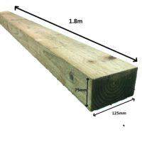 square edge post 1.8m