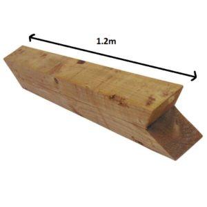 Birdsmouth (knee rail) post 1.2m