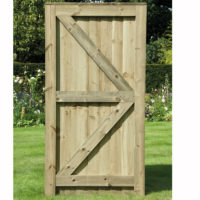 feather edge framed gate green