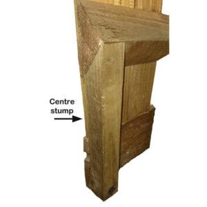 Centre stump 0.6 x 50 x 50 brown