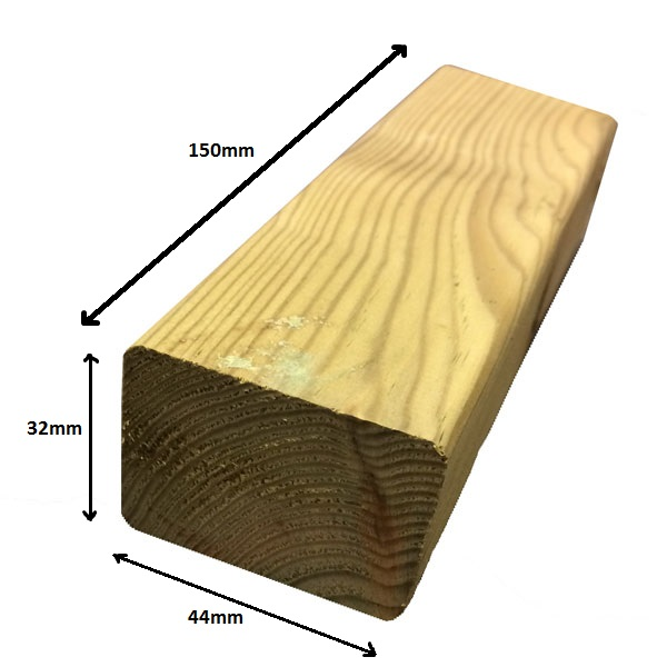 Kickboard block green 150mm