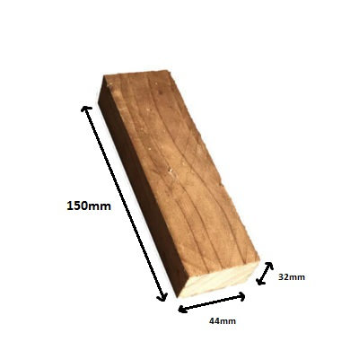 Kickboard block brown 150mm