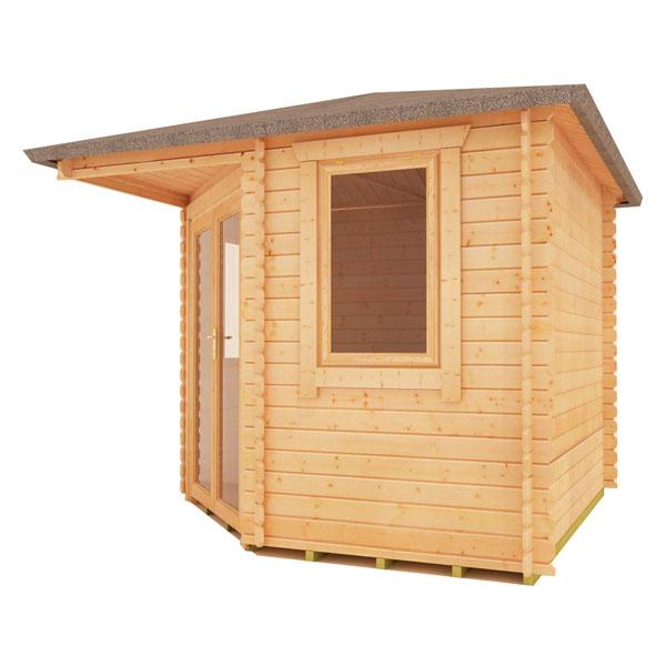Bradwell corner log cabin 10x10