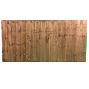 Feather edge panel brown 1.83 x 0.9m