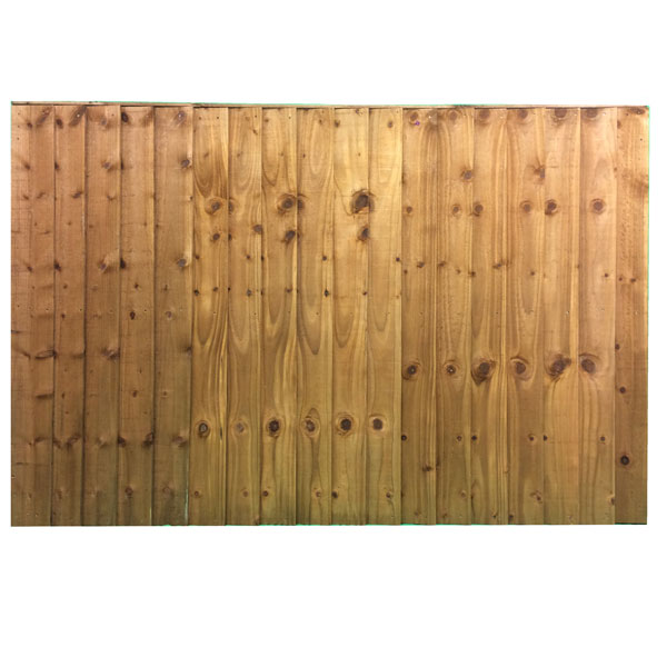 Feather edge panel brown 1.83 x 1.2m
