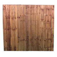 Feather edge panel brown 1.83 x 1.65