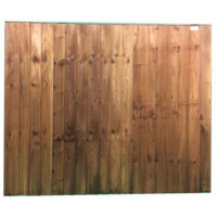 Feather edge panel brown 1.83 x 1.5m