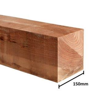 Brown 2.1 x 150 x 150 gate post
