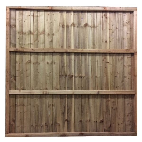 Feather edge panel green 6ft