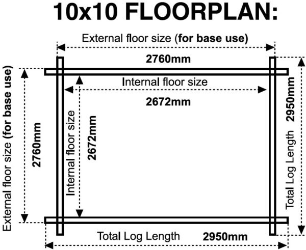 10x10 44mm floor plan