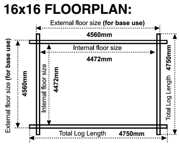 16x16 44mm Floor plans