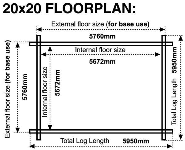 20x20 44mm Floor plan