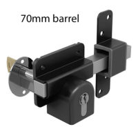 70mm double key euro lock