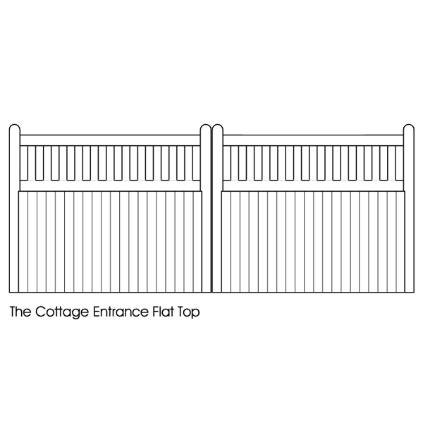 Cottage flat top entrance gate spec