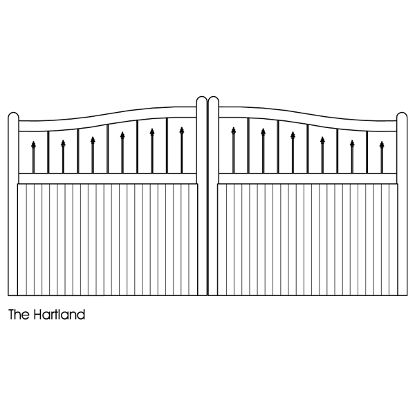 Sweeping top hartland gate