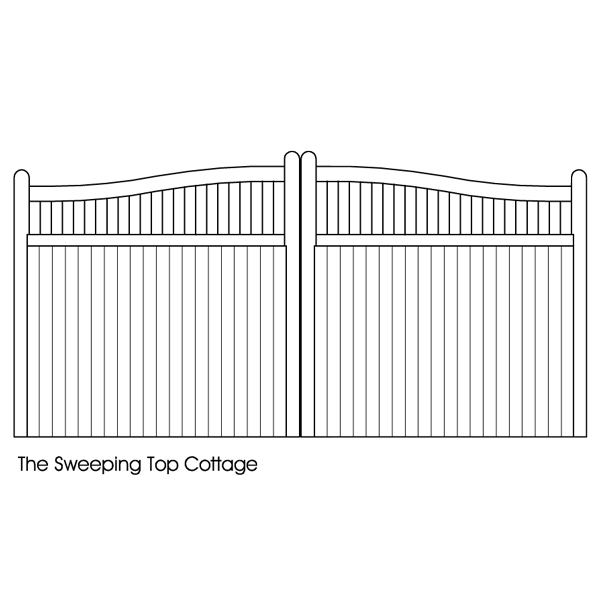 Sweeping top cottage gates